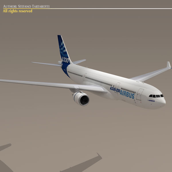 airbus a330-200 v1 3d загвар 3ds dxf c4d obj 116745
