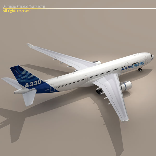 airbus a330-200 v1 3d загвар 3ds dxf c4d obj 116746