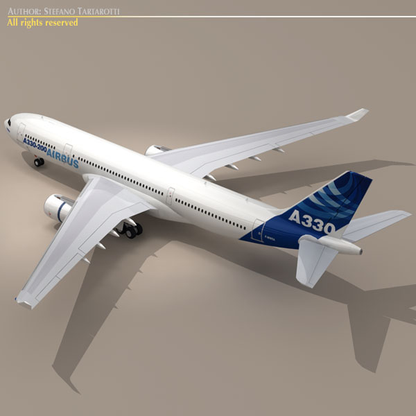 airbus a330-200 v1 3d загвар 3ds dxf c4d obj 116747