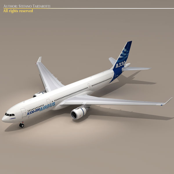 airbus a330-200 v1 3d загвар 3ds dxf c4d obj 116748