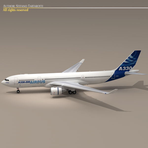 airbus a330-200 v1 3d загвар 3ds dxf c4d obj 116749