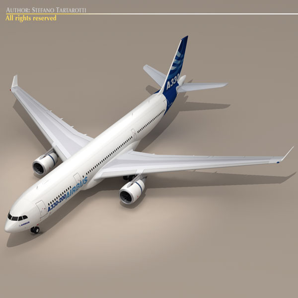 airbus a330-200 v1 3d загвар 3ds dxf c4d obj 116750