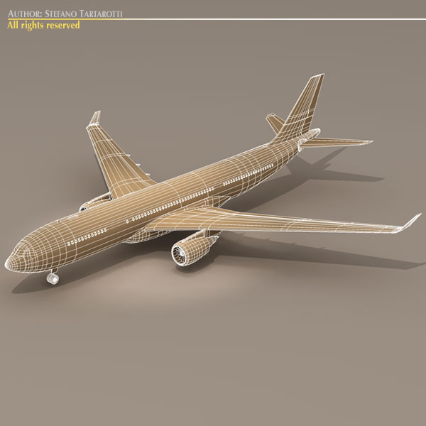 airbus a330-200 v1 3d загвар 3ds dxf c4d obj 116752