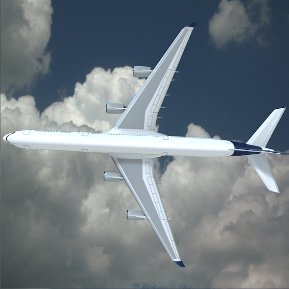 airbus a340-600 commercial aircraft 3d model 3ds fbx blend lwo obj 161616