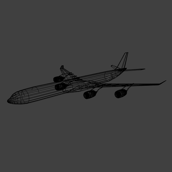 airbus a340-600 commercial aircraft 3d model 3ds fbx blend lwo obj 161619