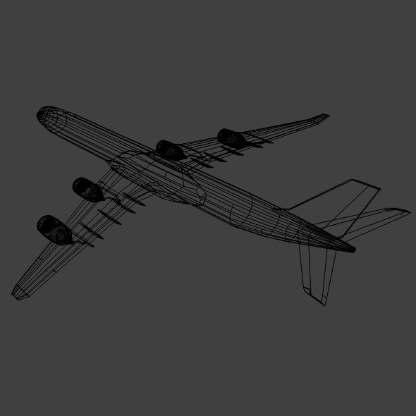 airbus a340-600 commercial aircraft 3d model 3ds fbx blend lwo obj 161620