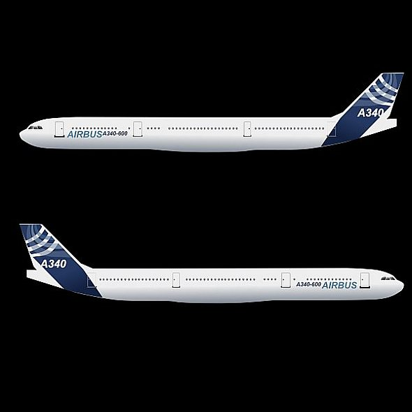 airbus a340-600 commercial aircraft 3d model 3ds fbx blend lwo obj 161621