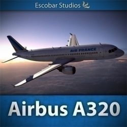 Airbus A320 Air France ( 89.38KB jpg by Escobar_Studios )