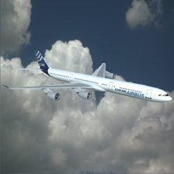 Airbus A340-600 commercial aircraft ( 211.91KB jpg by futurex3d )