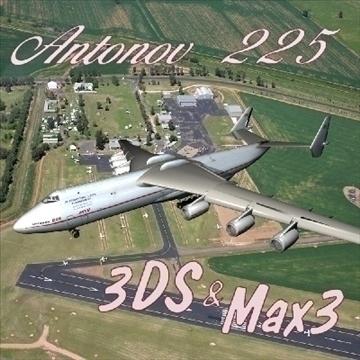 Antonov 225 3d líkan 3ds max 79214
