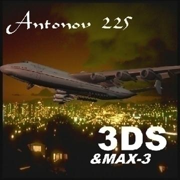 antonov 225 3d model 3ds max 79215