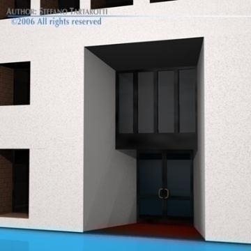 art gallery building 3d model 3ds dxf c4d obj 78541