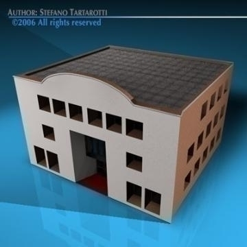 art gallery building 3d model 3ds dxf c4d obj 78542