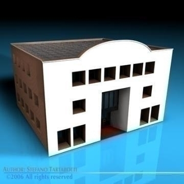 art gallery building 3d model 3ds dxf c4d obj 78543