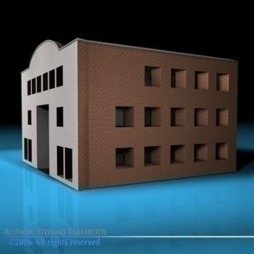 art gallery building 3d model 3ds dxf c4d obj 78545