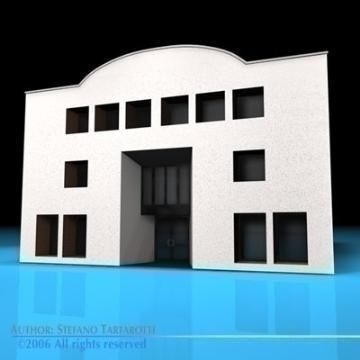 art gallery building 3d model 3ds dxf c4d obj 78546