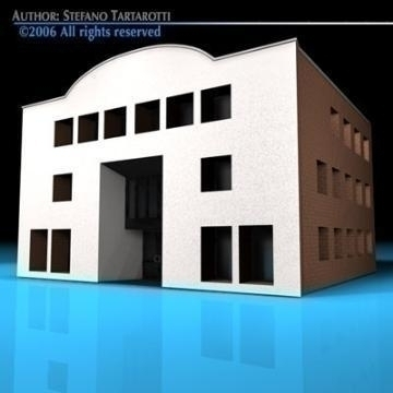 art gallery building 3d model 3ds dxf c4d obj 78547