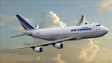 b 747 200 air france 3d model max obj 107243