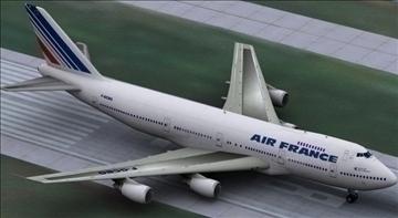 b 747 200 air france 3d model max obj 107244