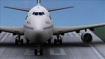b 747 200 air france 3d model max obj 107246