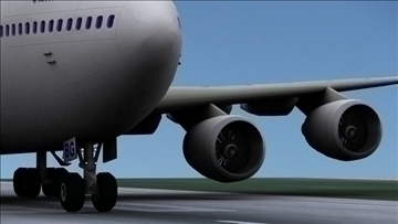 b 747 200 air france 3d model max obj 107247