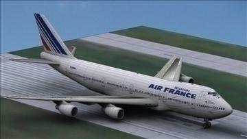 b 747 200 air france 3d model max obj 107249