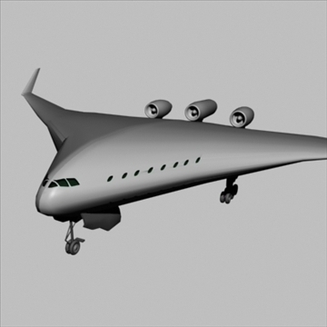 blended wing-body 3d model 3ds 81394
