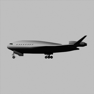 blended wing-body 3d model 3ds 81395