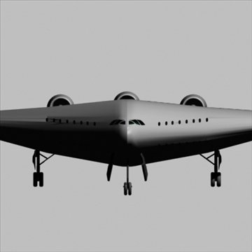 blended wing-body 3d model 3ds 81398