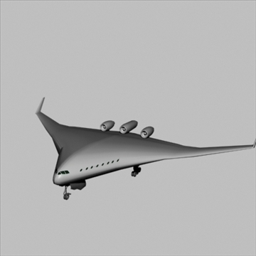 blended wing-body 3d model 3ds 81399