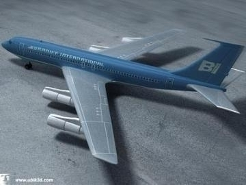 boeing 707-251 3d model 3ds lwo 78201