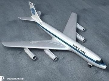 boeing 707-251 3d model 3ds lwo 78203