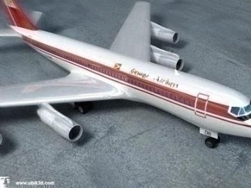 boeing 707-251 3d model 3ds lwo 78204