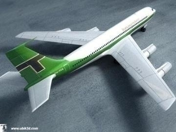 boeing 707-251 3d model 3ds lwo 78205