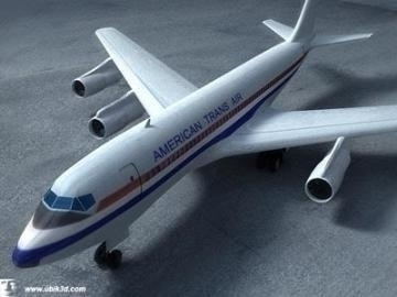 boeing 707-251 3d model 3ds lwo 78206