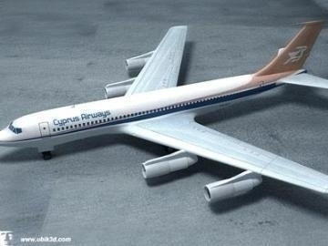 boeing 707-251 3d model 3ds lwo 78208