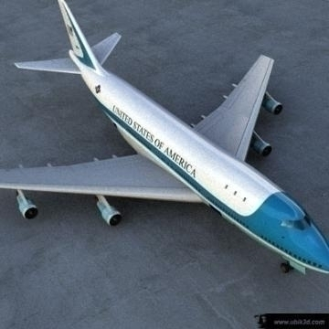 boeing 747 – airforce one 3d model 3ds lwo 77968
