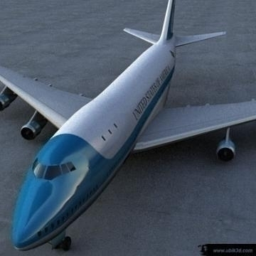 boeing 747 – airforce one 3d model 3ds lwo 77969