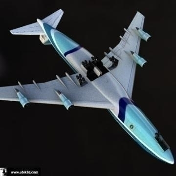 boeing 747 – airforce one 3d model 3ds lwo 77971