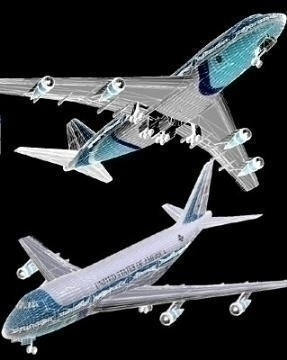 boeing 747 – airforce one 3d model 3ds lwo 77972