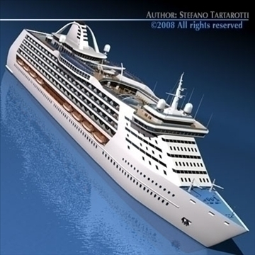 cruise ship 3d model 3ds dxf c4d obj 87630