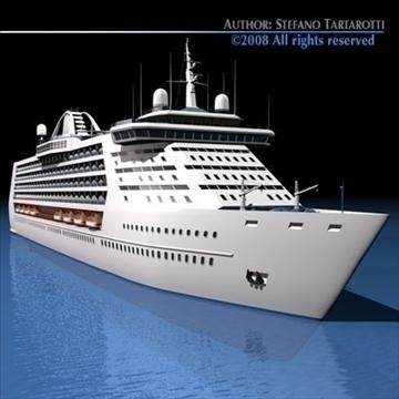 cruise ship 3d model 3ds dxf c4d obj 87631