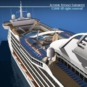 cruise ship 3d model 3ds dxf c4d obj 87632
