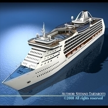 cruise ship 3d model 3ds dxf c4d obj 87633
