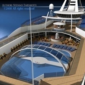 cruise ship 3d model 3ds dxf c4d obj 87634