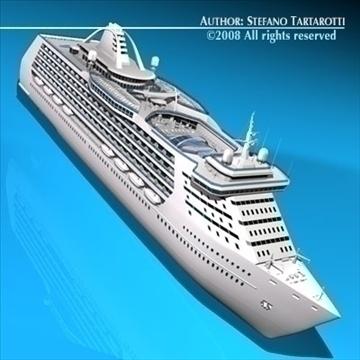 cruise ship 3d model 3ds dxf c4d obj 87635