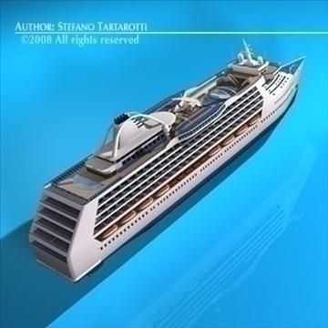 cruise ship 3d model 3ds dxf c4d obj 87636