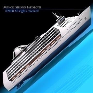 cruise ship 3d model 3ds dxf c4d obj 87637