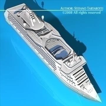 cruise ship 3d model 3ds dxf c4d obj 87638