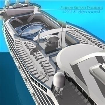 cruise ship 3d model 3ds dxf c4d obj 87639